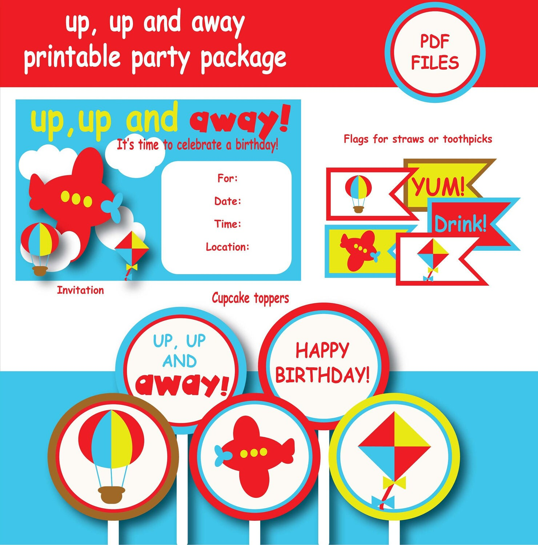 Airplane Birthday Invitation Diy Printable By Vindee On Etsy: Items Similar To Airplane Birthday Party Printable Instant