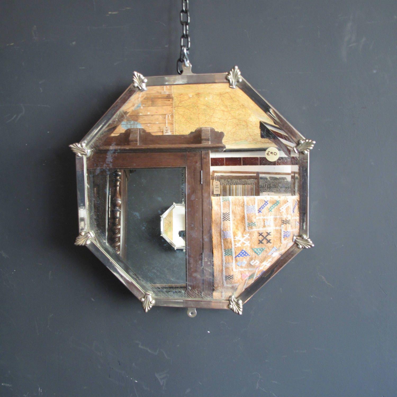 Original Art Deco bevelled Mirror Octagonal shaped