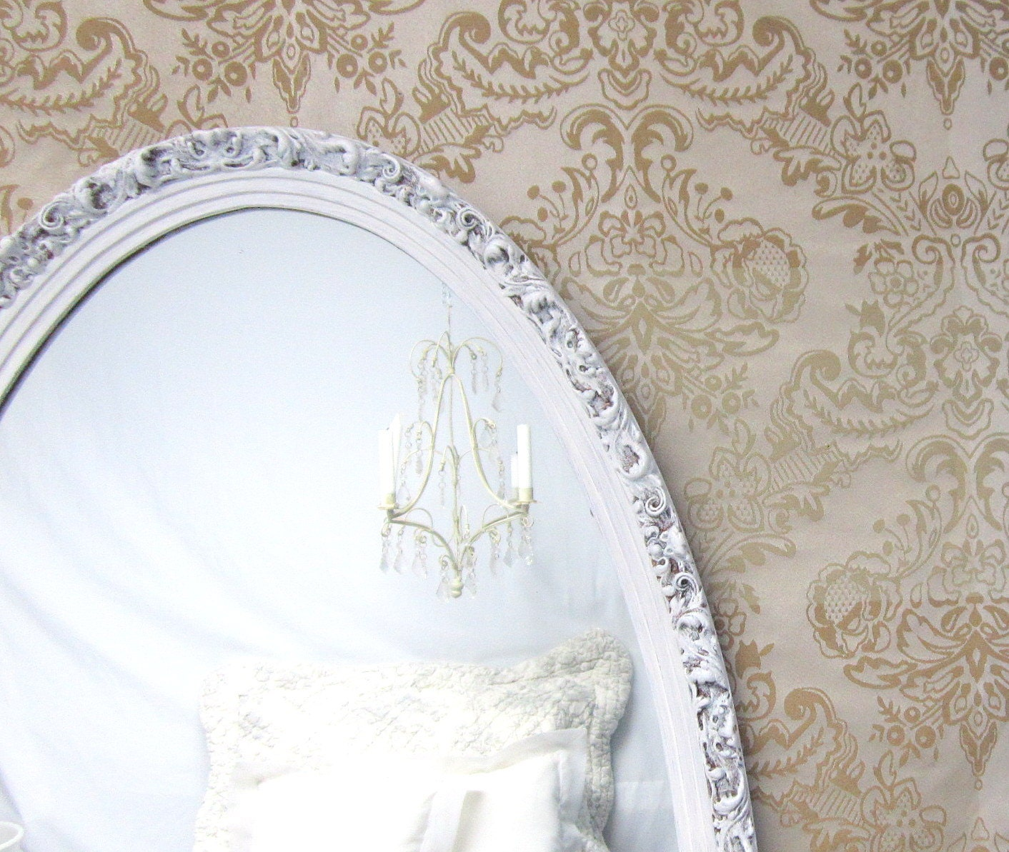 Decorative vintage mirrors for sale large oval by for Fancy wall mirrors for sale