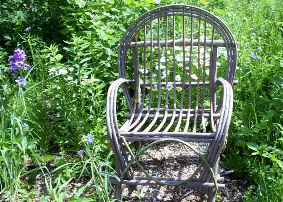 Items Similar To Plan Rustic Twig Bent Willow Chair Adult Size How To Make Build Your Own Rustic