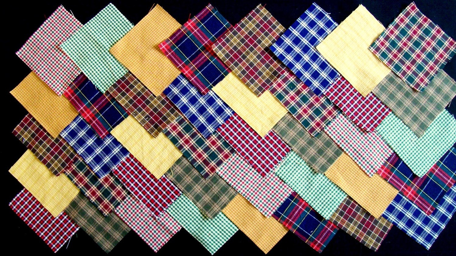 Quilt Patterns For Homespun Fabric : HOMESPUN PLAIDS 4 inch Quilt Fabric Squares by Hoosierquilter