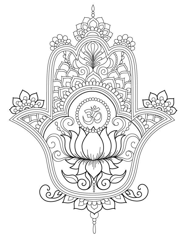 Hamsa Coloring Page Items Similar To Book Sunny Side Up On