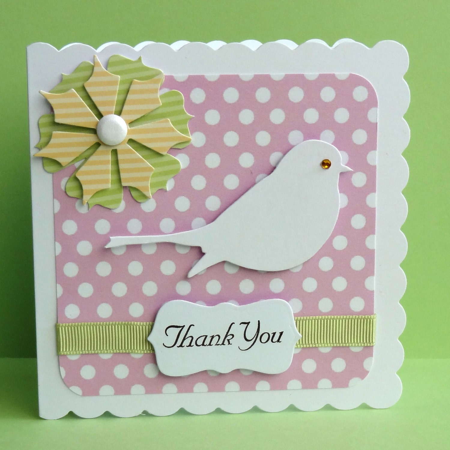 Set Of 4 Handmade Luxury Thank You Cards All By