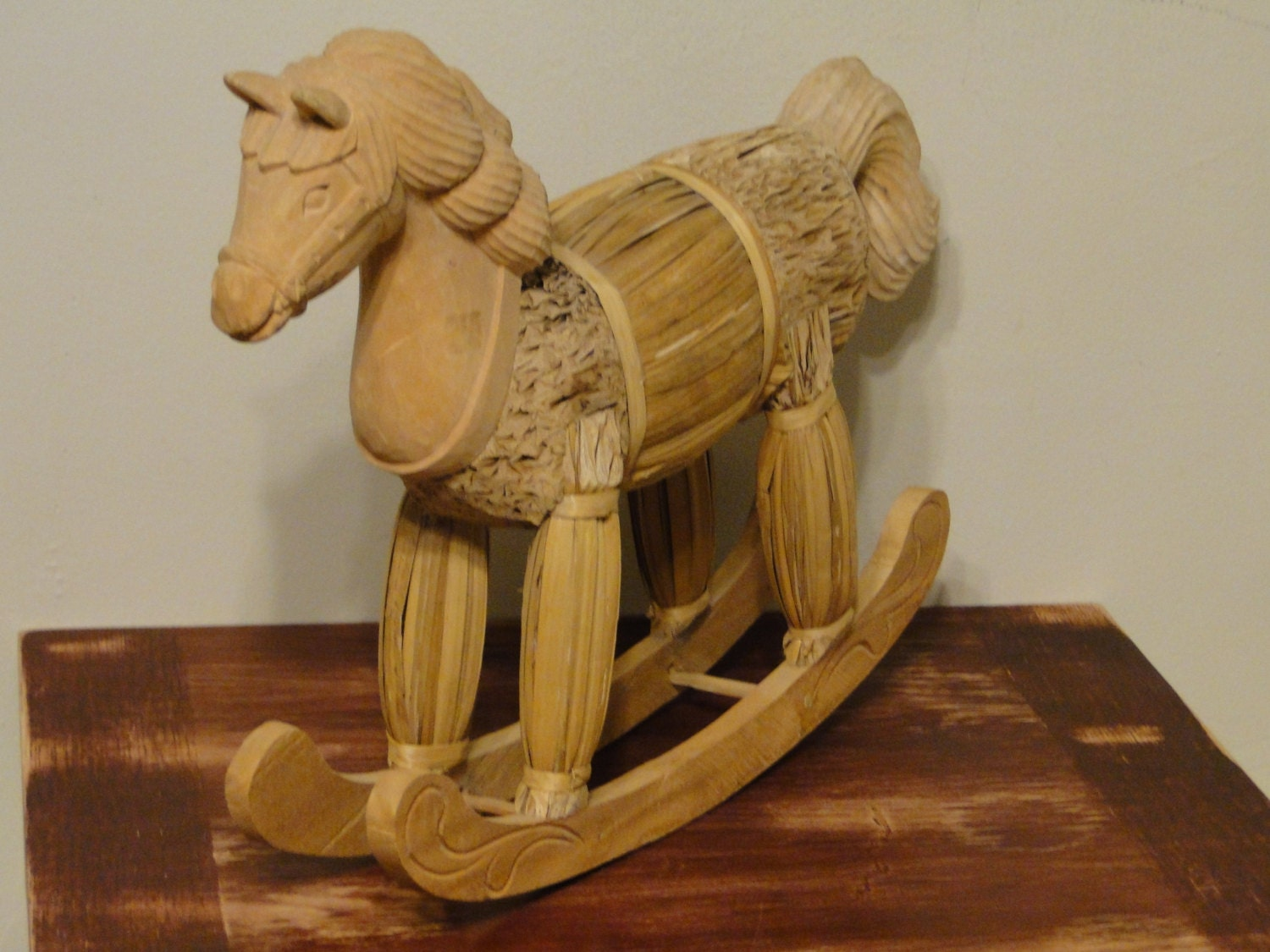 Unavailable listing on etsy for Hand crafted rocking horse
