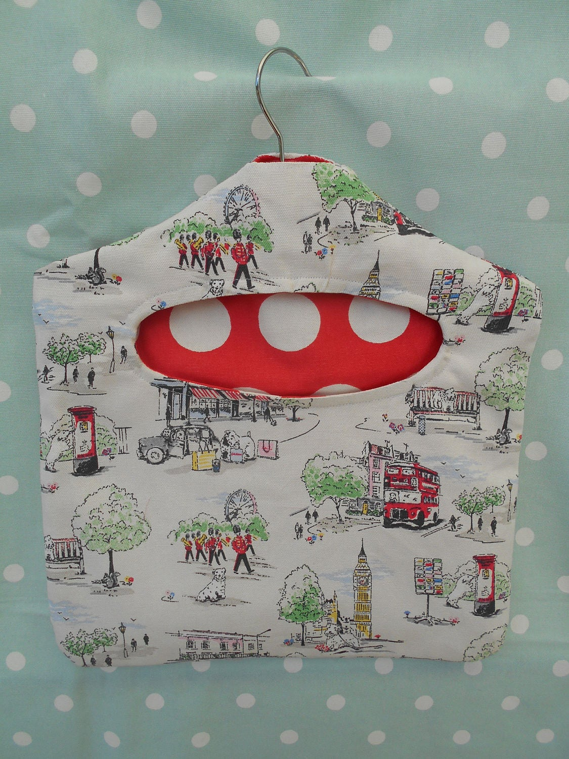 Billy goes to Town Peg Bag handmade from Cath Kidston fabric