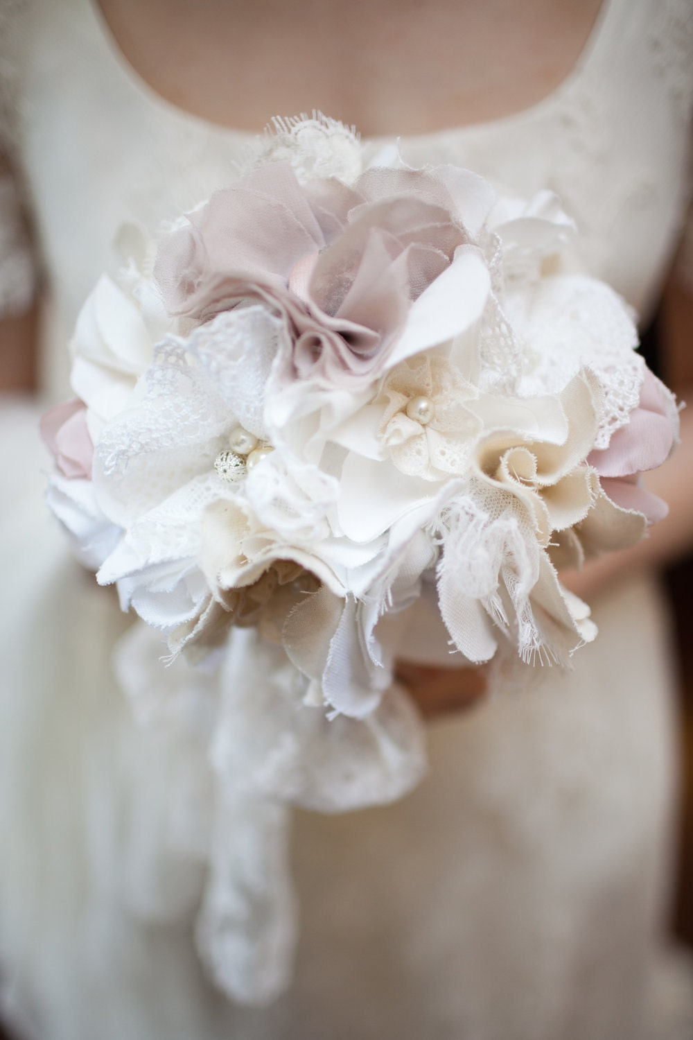 Fabric Bridal Bouquet Rustic Chic Weddings Fabric By Innstyches