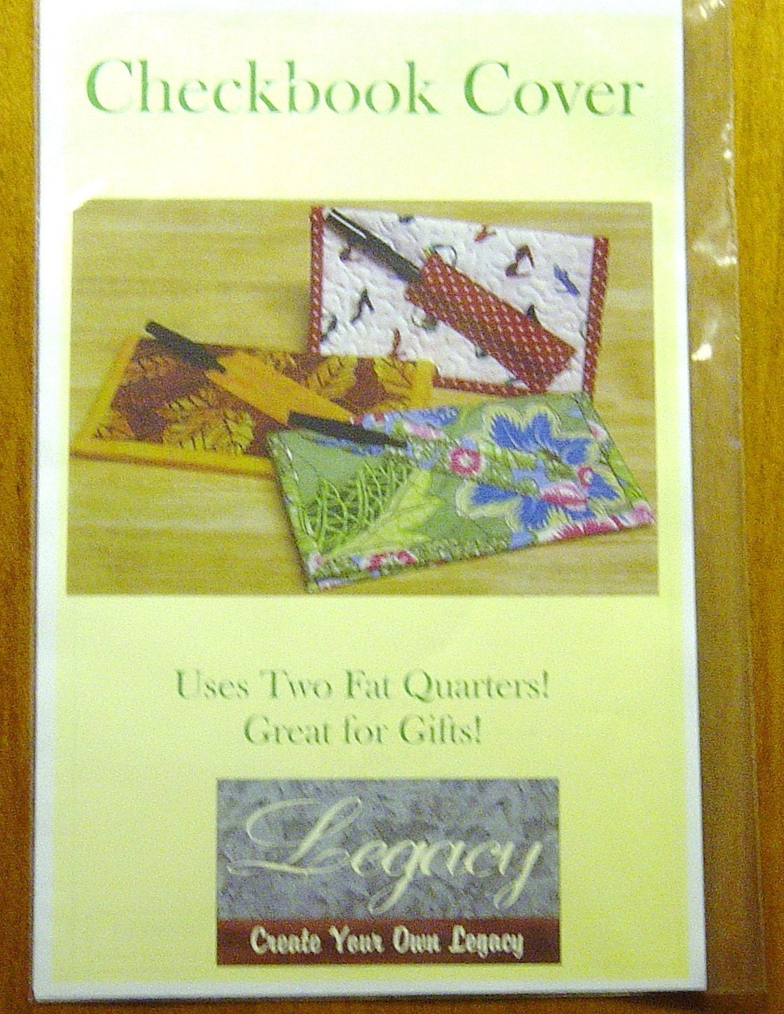 Book Cover Sewing Quarter : Legacy fat quarter checkbook cover sewing by ohiocrochetlady
