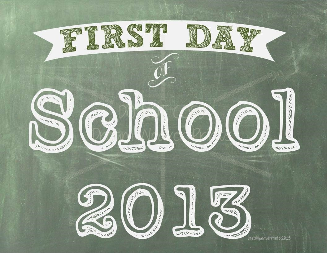 Chalkboard Printable First Day of School INSTANT DOWNLOAD green chalkboard - BDubWrites