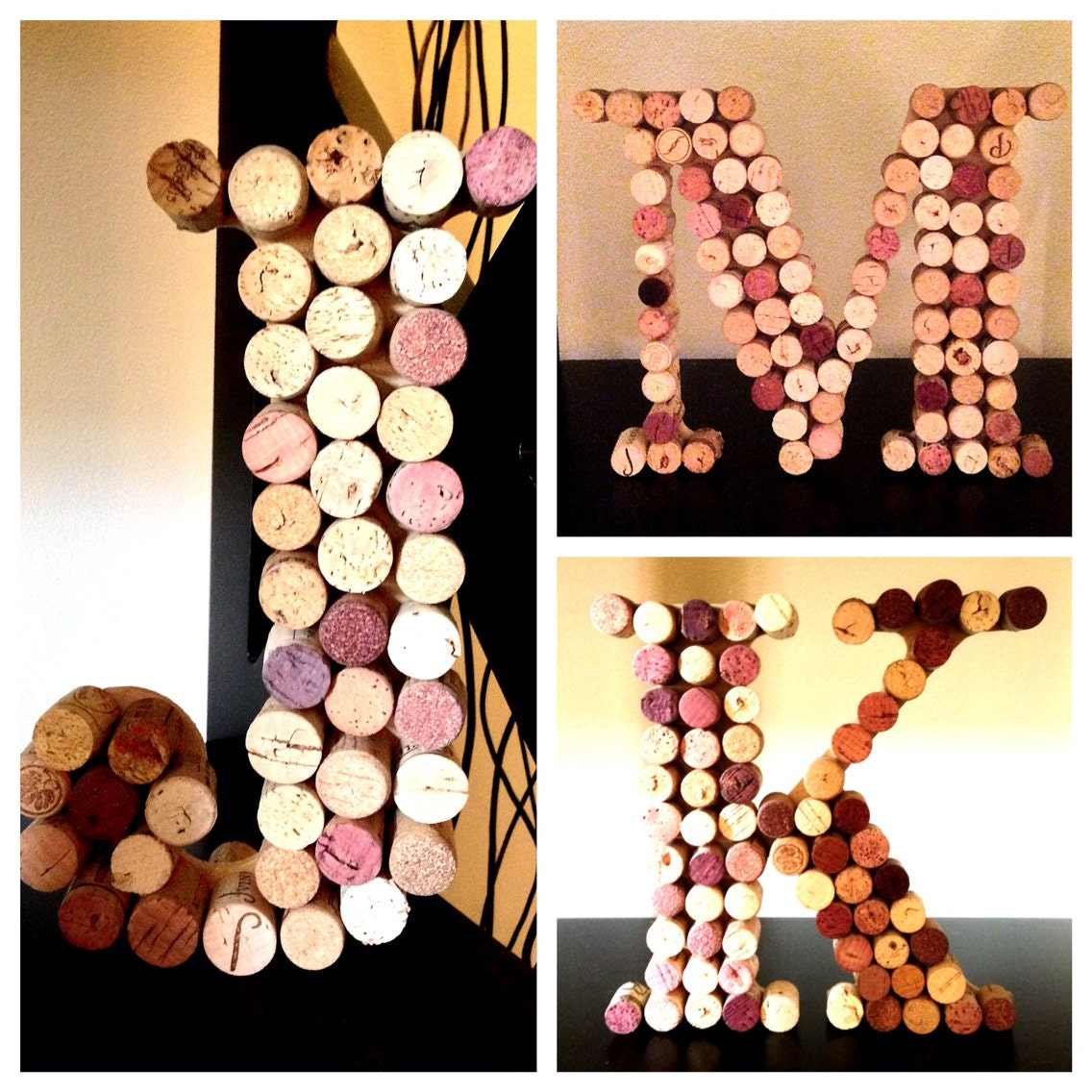 Personalized Wine Cork Letters - CreationsAndDesigns