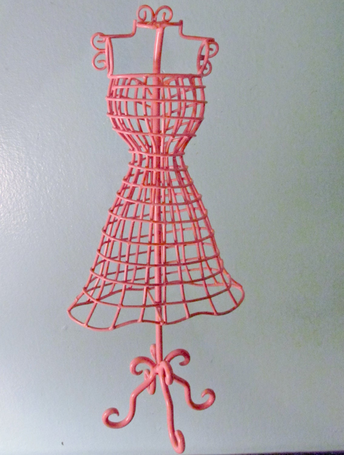 Pink Dress Form Metal Jewelry Earring Holder By