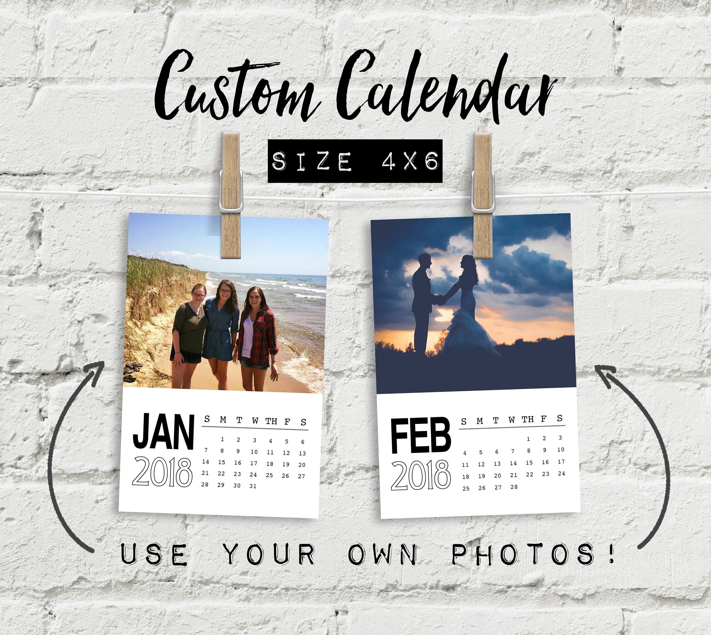 Printable calendar 2018 quote calendar digital calendar