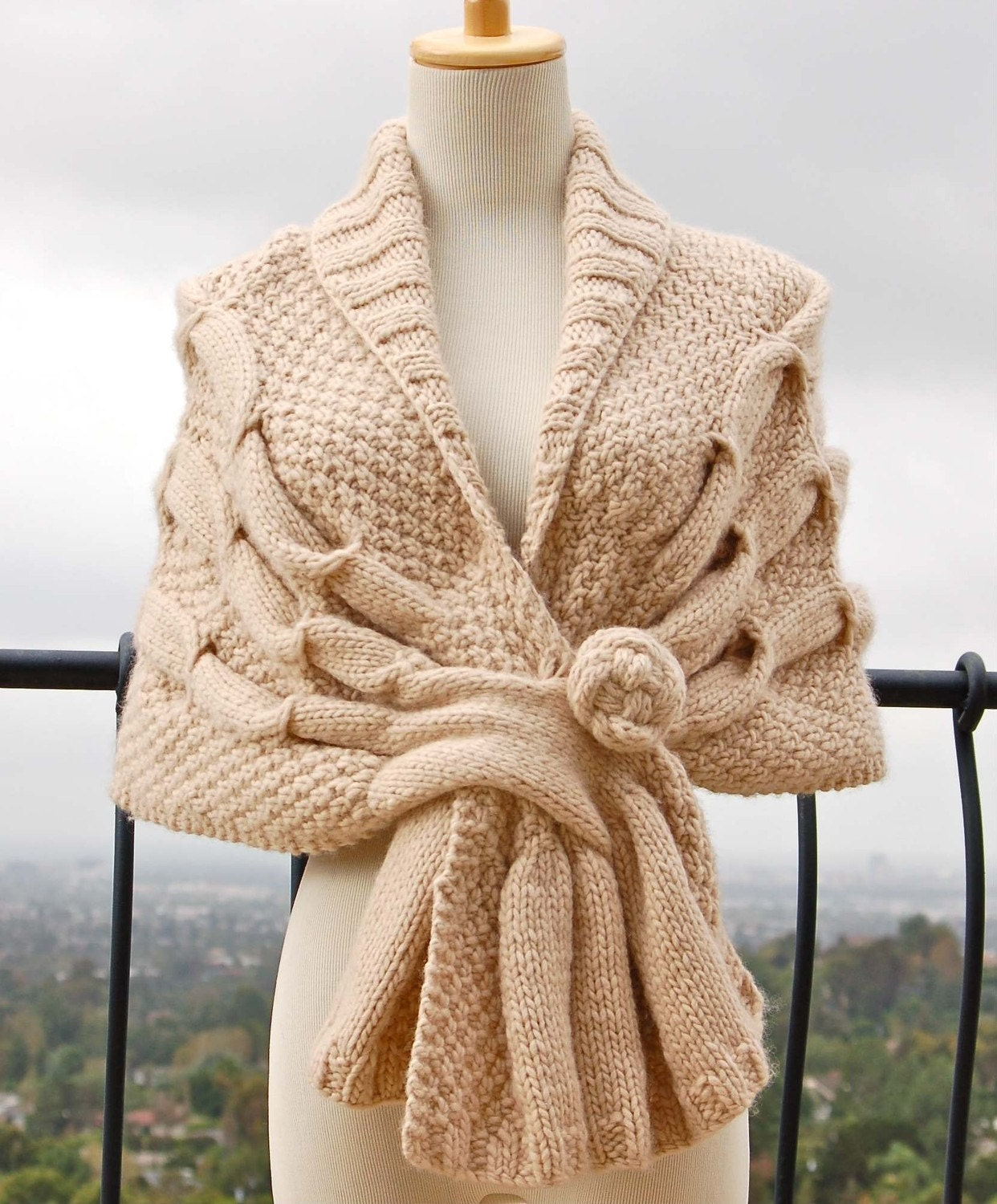 Oscillating Wrap PDF Knitting Pattern Instant Download - PamPowersKnits