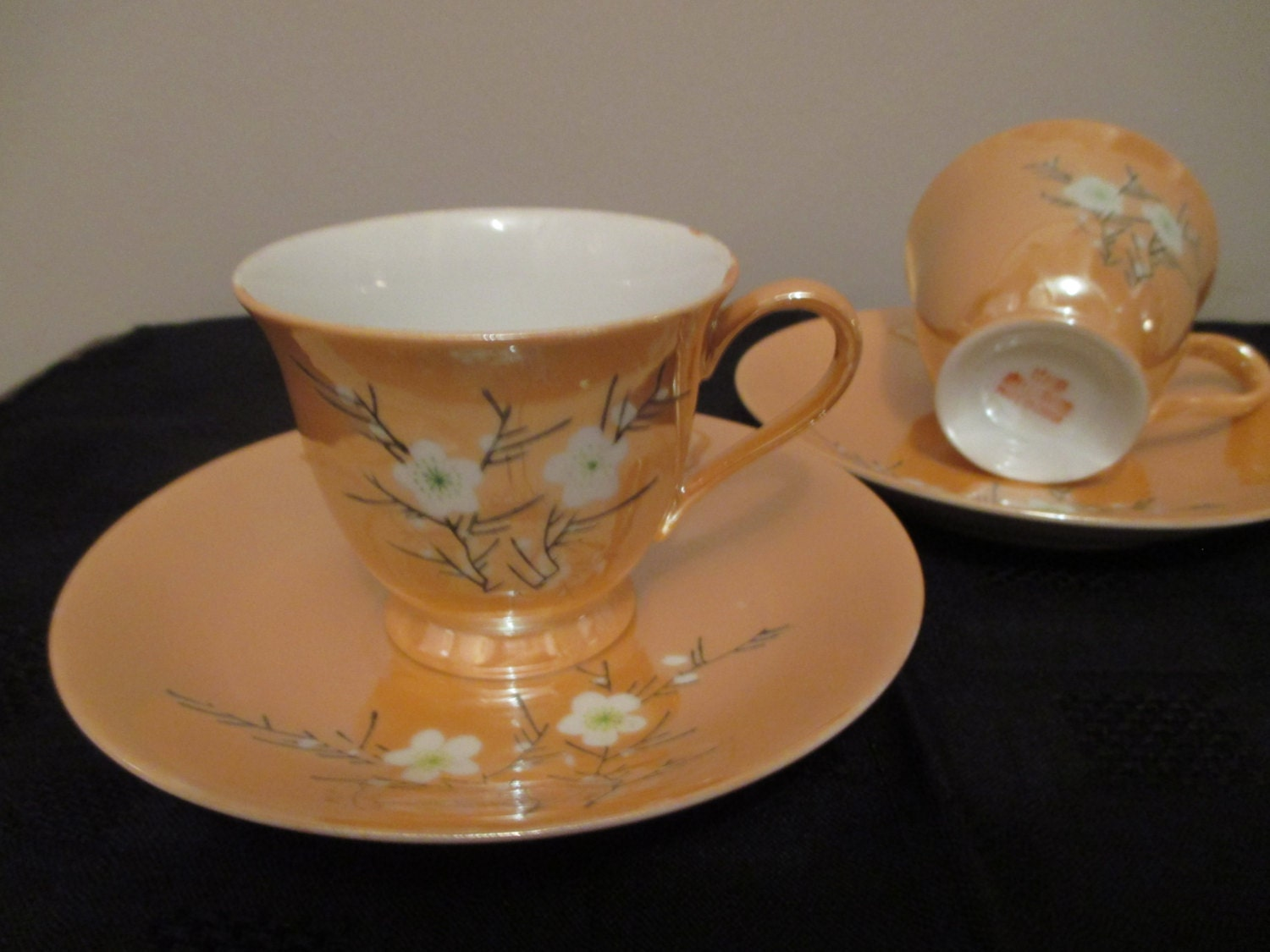Little Chinese Tea Cups and Saucers