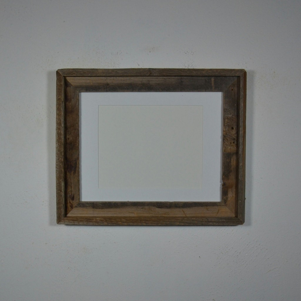 11x14 Frame From Repurposed Barn Wood With 8x10 Mat By