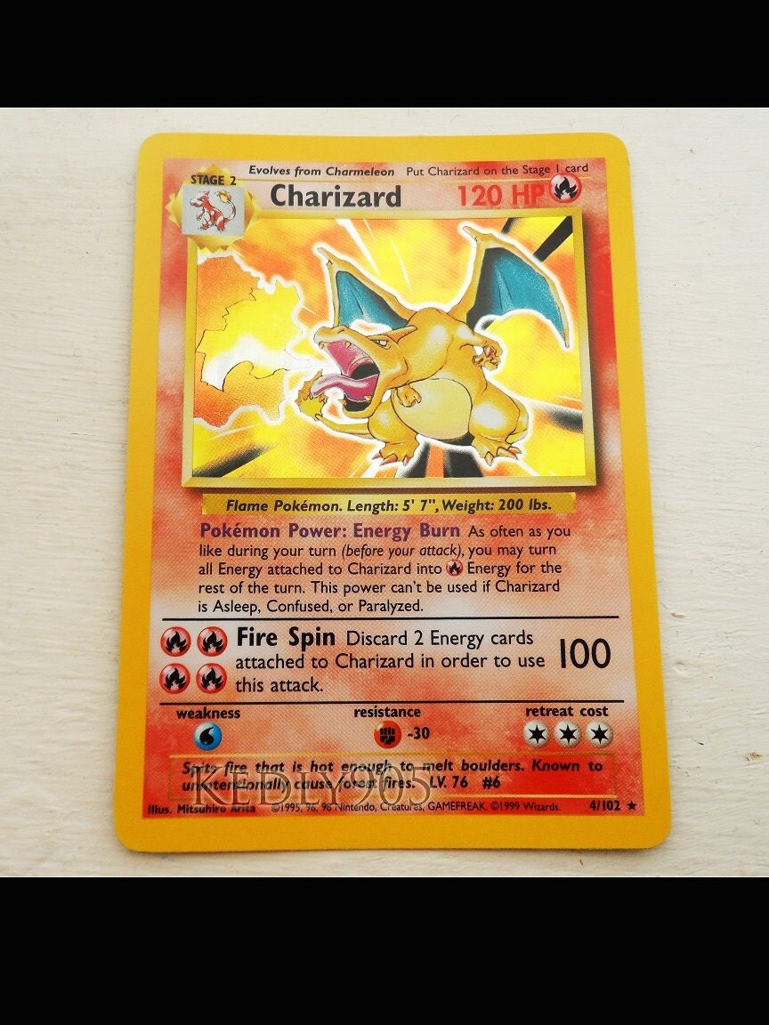 Rare charizard pokemon card