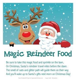 Shocking image in magic reindeer food printable
