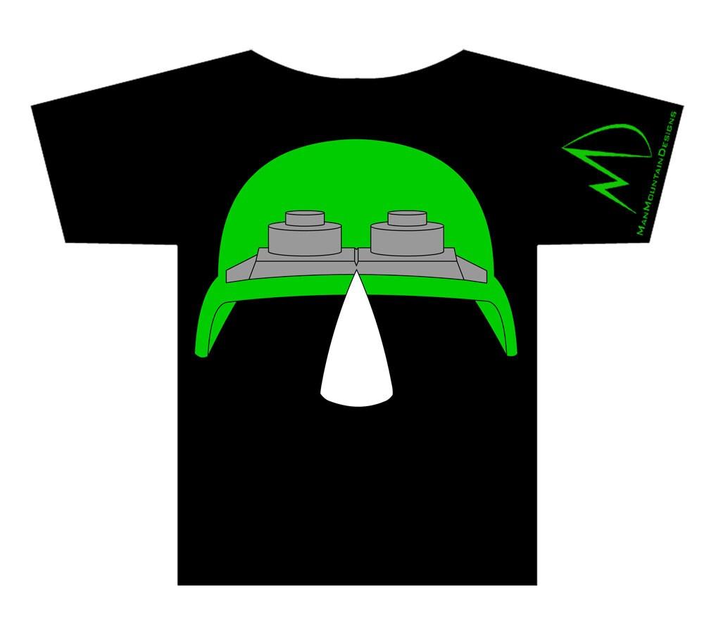 TMNT Teenage Mutant Ninja Turtles Rocksteady METALLIC Tshirt