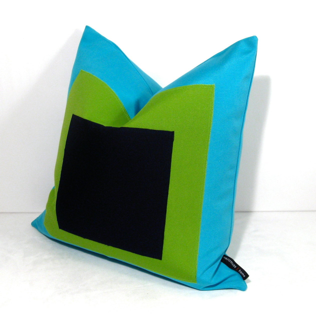 Modern Blue Outdoor Pillows : Modern Outdoor Pillow Cover Blue Green Pillow Navy by Mazizmuse