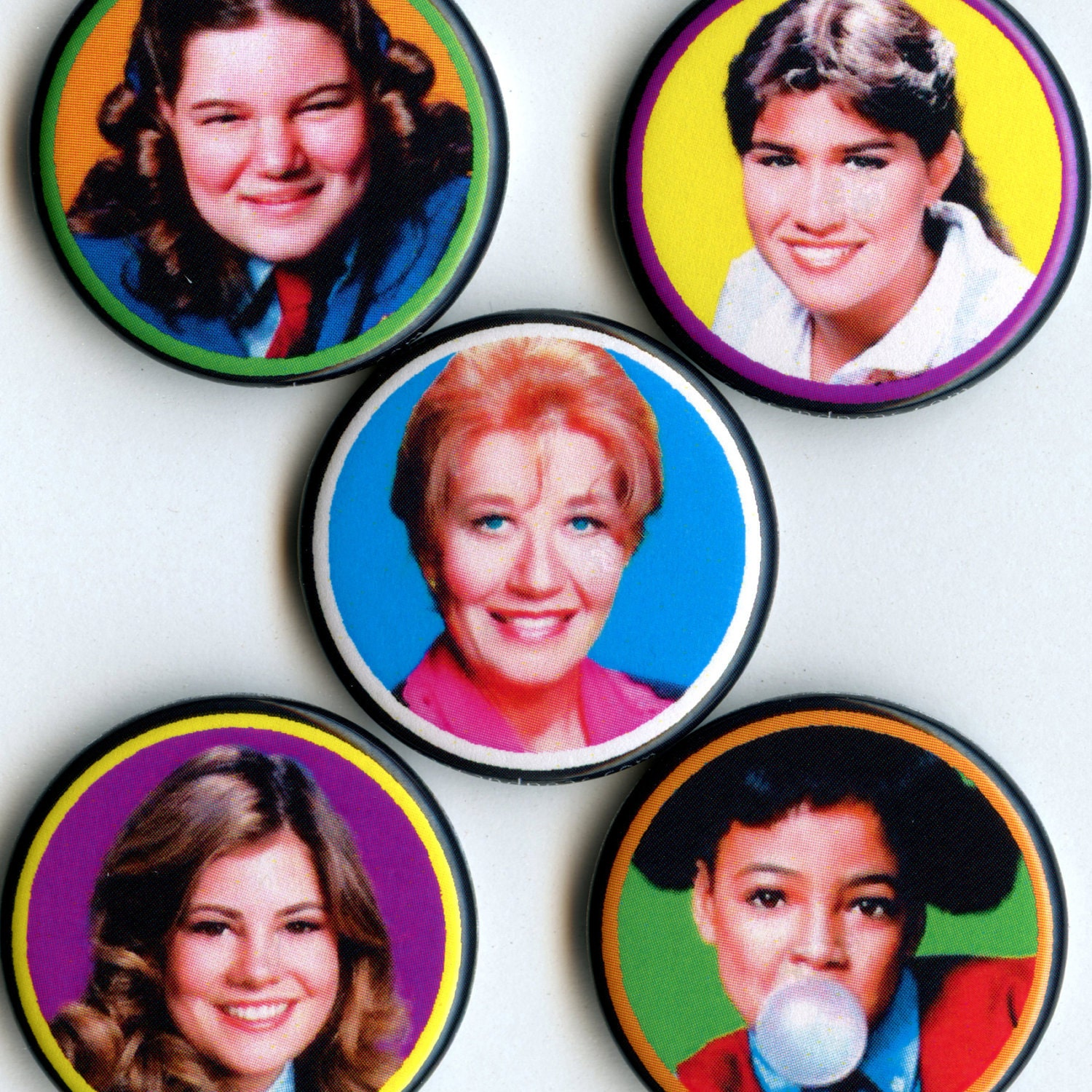 THE FACTS Of LIFE Magnet Set - Mrs G, Jo, Blair, Natalie, & Tootie - seasandpeas