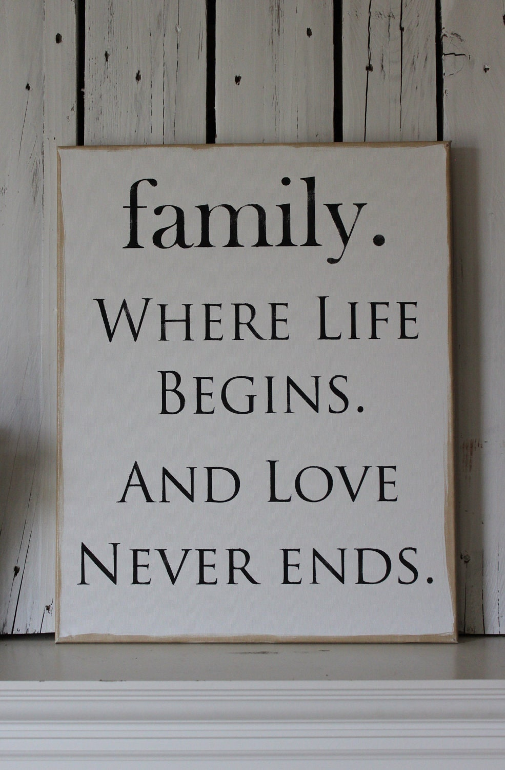 Etsy Family Wall Decor : Canvas art wall decor family sign by mypineplace on etsy