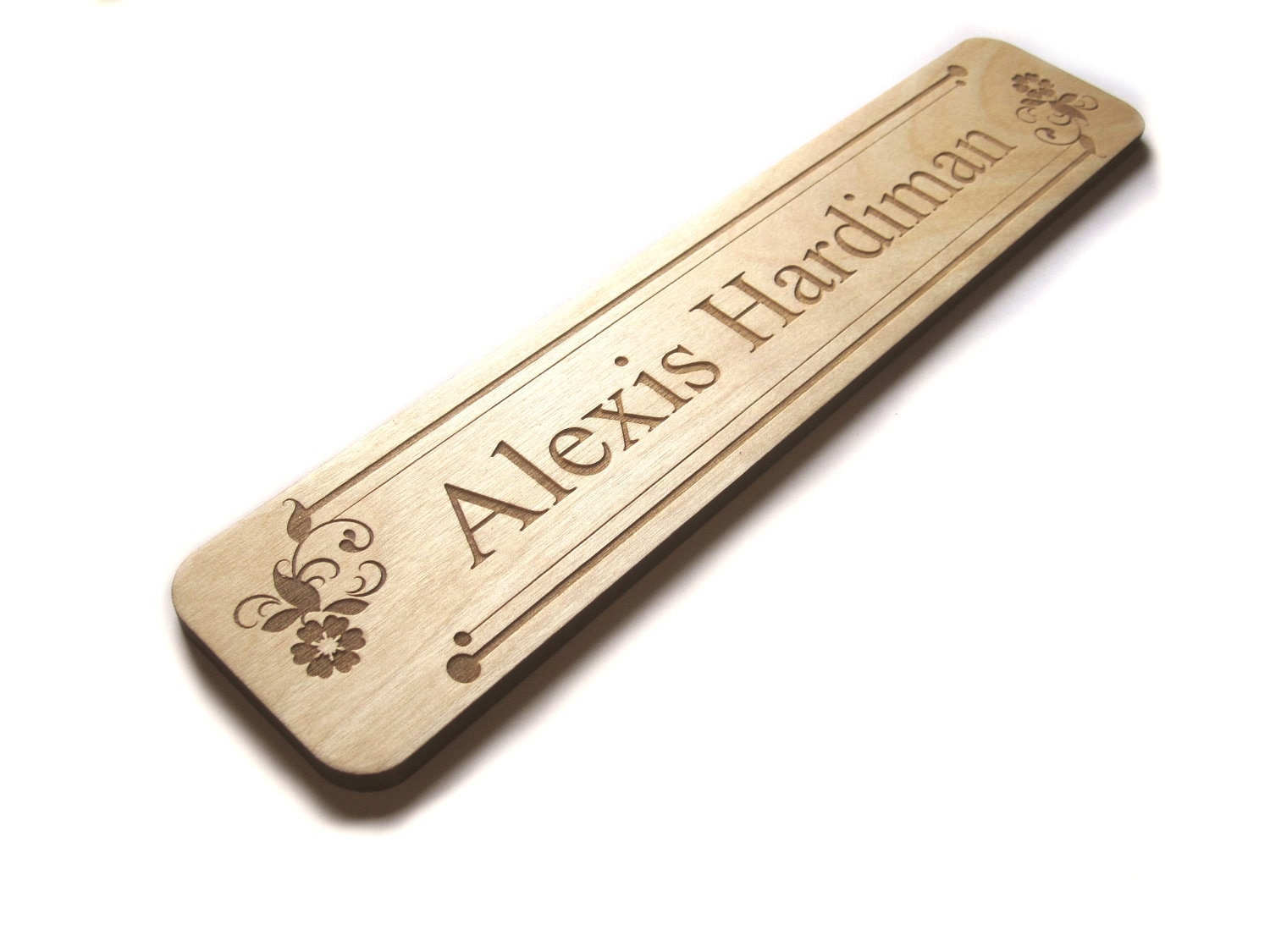 Items similar to Wood sign Name plate Custom laser