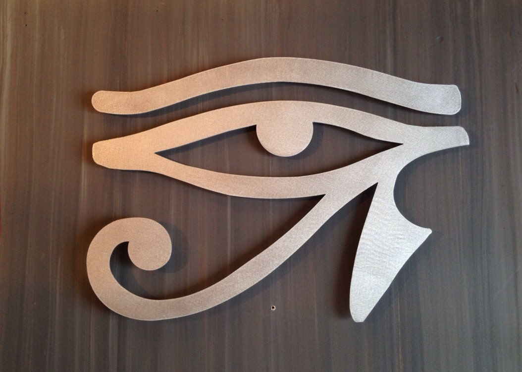 Meaning Of Wall Decor : Egyptian eye metal wall art by