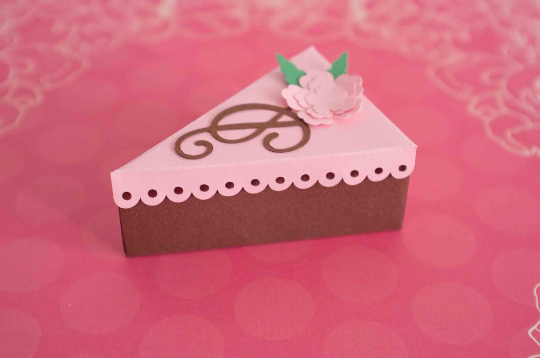 Cake Slice Favor Boxes Wedding Favor Boxes Favor Box Candy Box