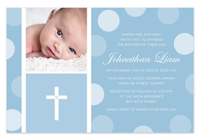Baby Boy Baptism Invitations for your inspiration to make invitation template look beautiful