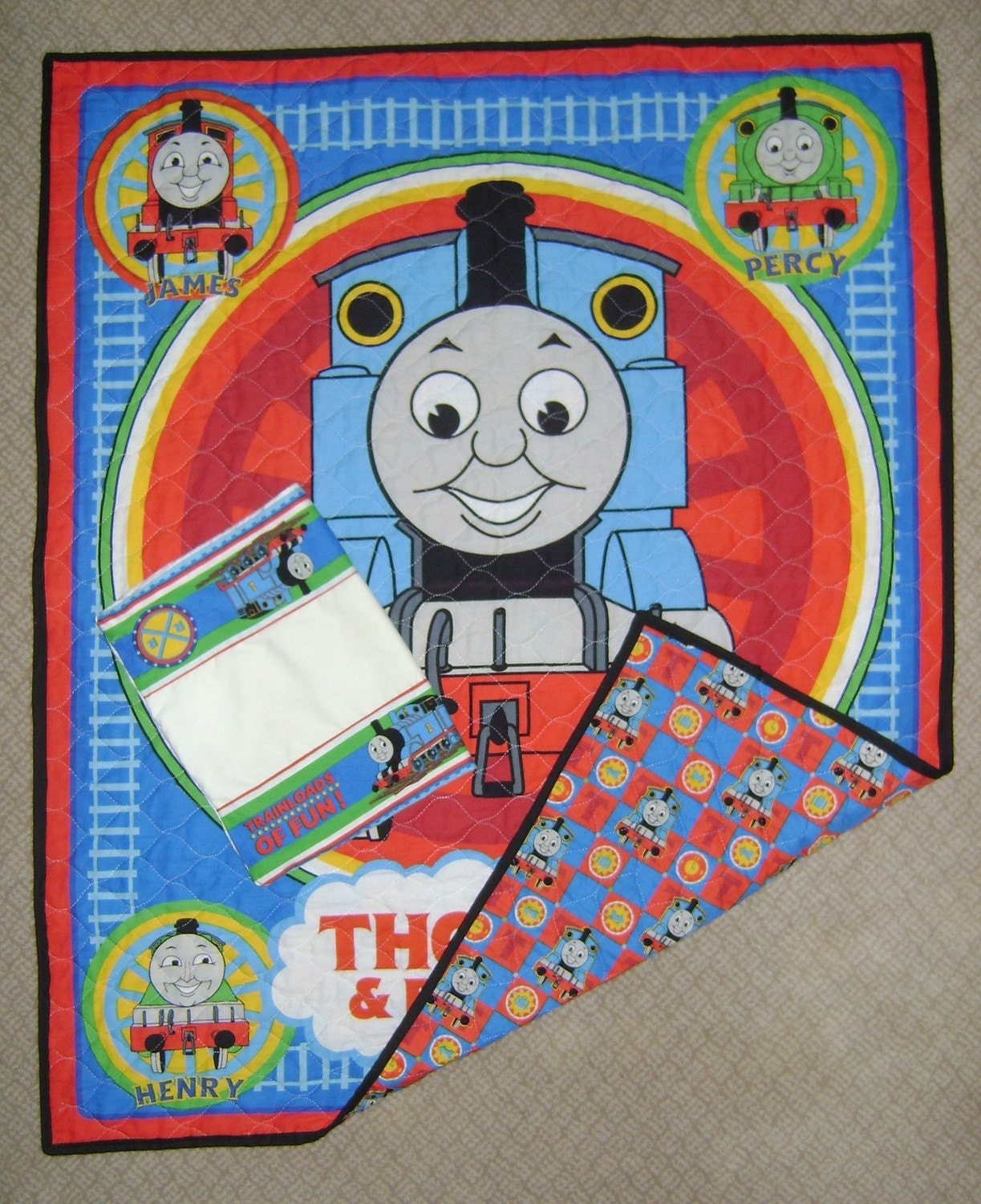 Handmade Thomas The Train Toddler Bed Quilt And By