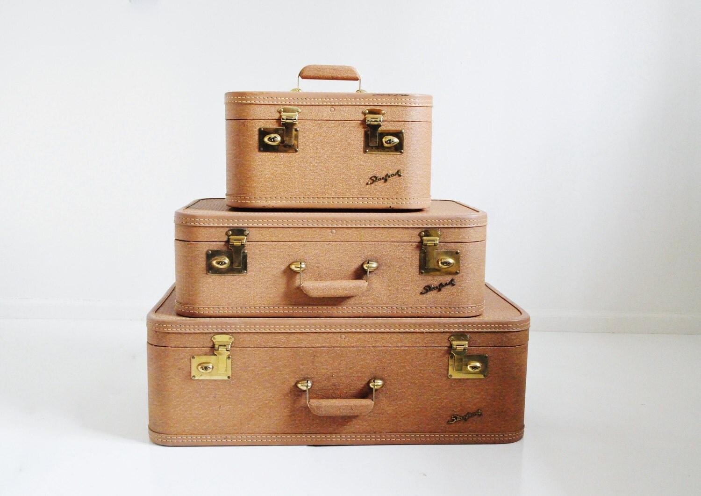 Mid-Century Starfrost Suitcase Set - thewhitepepper