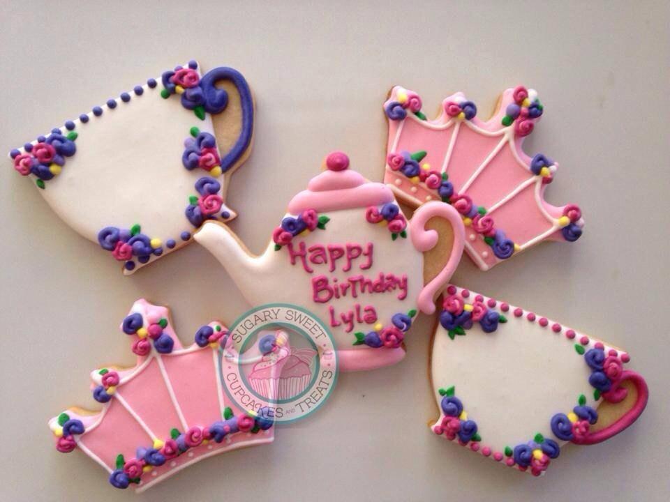 Princess tea party (12cookie) - SugarySweetCookies