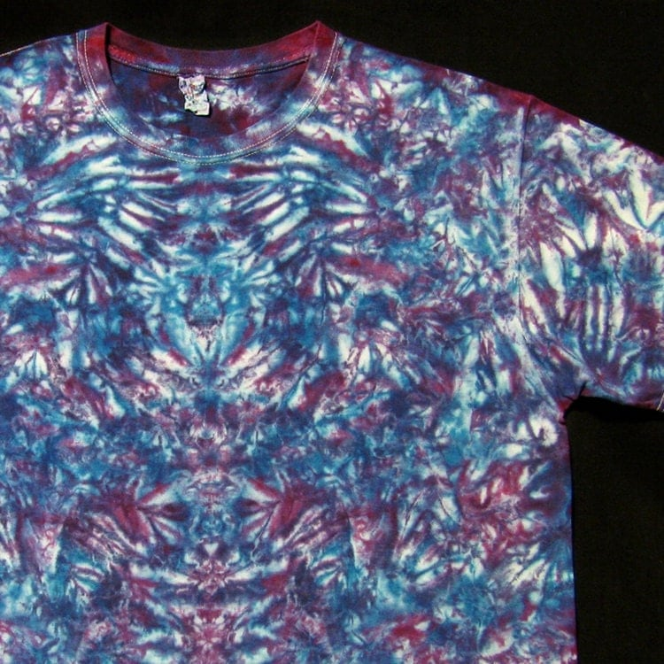 tie dyed shirt psychedelic rorschach test by bigbluedyes