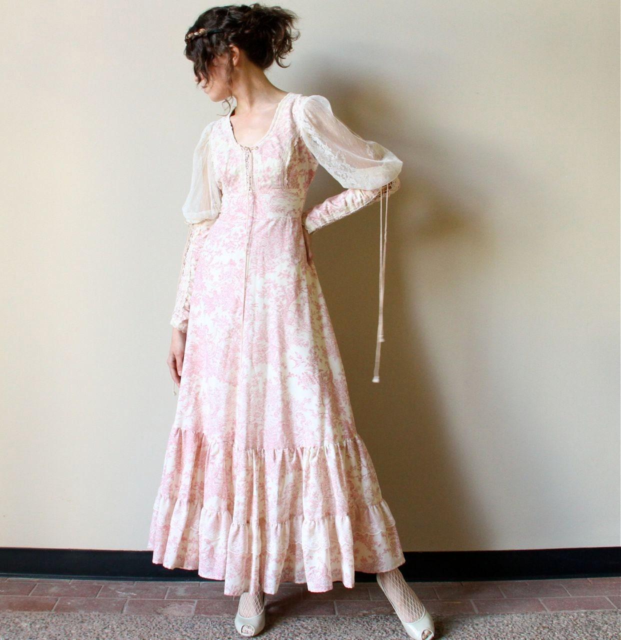 70s gunne sax medieval wedding dress vintage by for Gunne sax wedding dresses