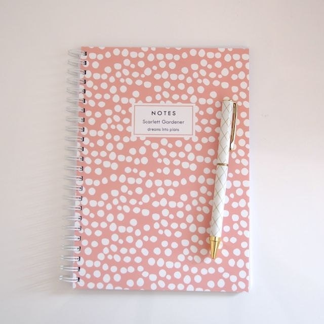 Personalized Notebook - Spots - LetterLoveDesigns