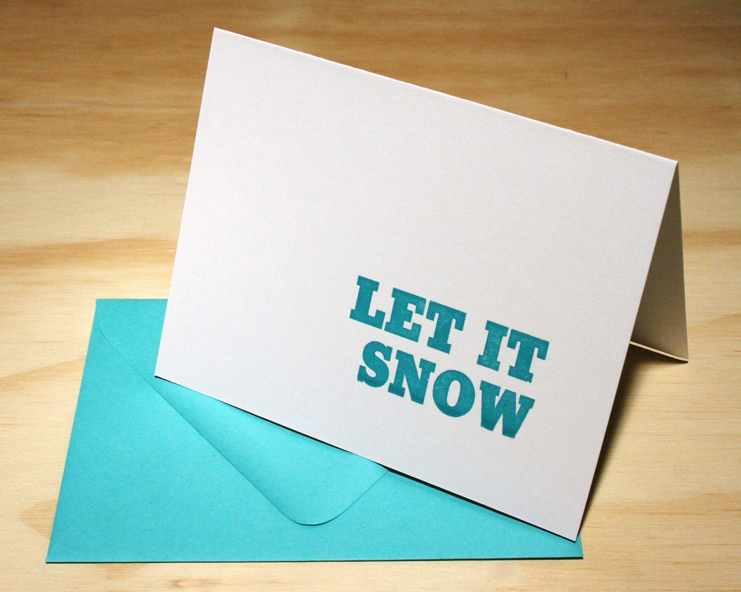 Let it Snow Christmas Letterpress Cards - Set of 6 - Stymie Statements