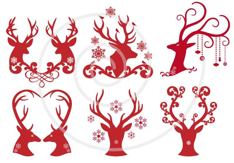 photo regarding Deer Head Silhouette Printable called deer thoughts silhouette printable