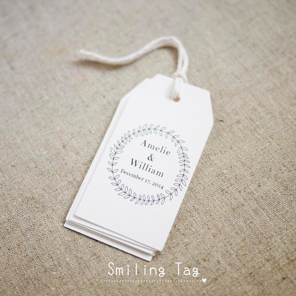 Wedding Wreath Favor TagsGift TagsFavor Bag TagBachelorette ...