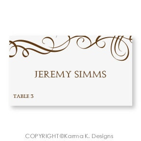 table tent template word