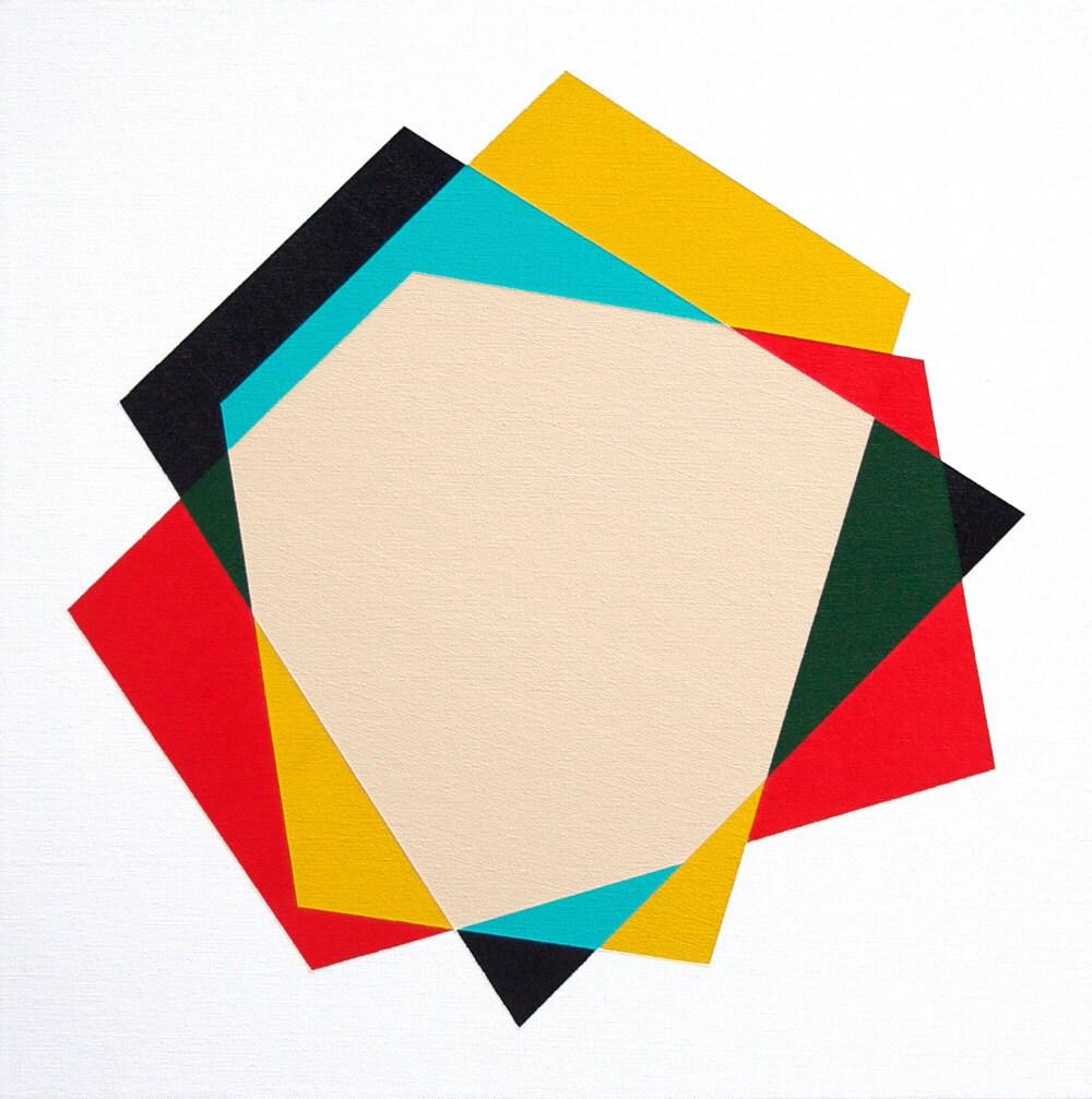 "Original painting - ""Pendleton"" 18 x 18 geometric minimalist abstract - magnapaint"