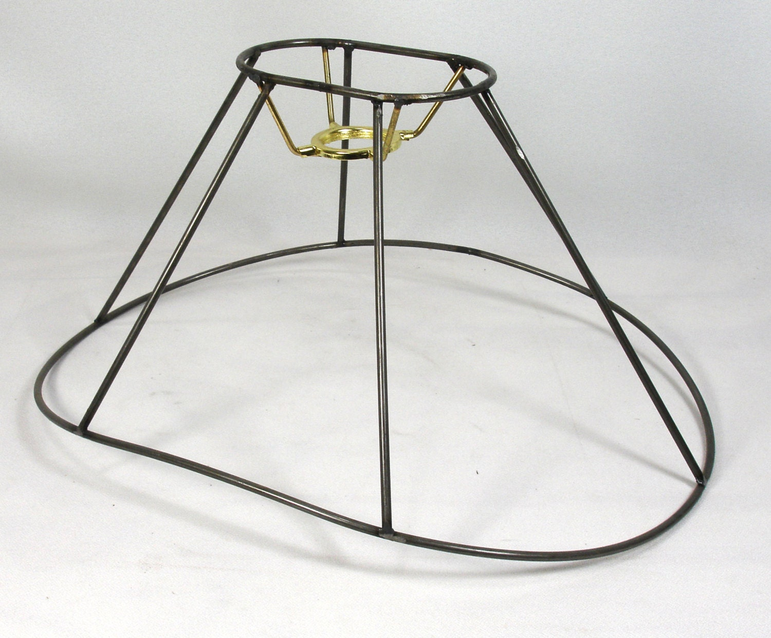 items similar to lamp shade frame bridge table wire oval. Black Bedroom Furniture Sets. Home Design Ideas