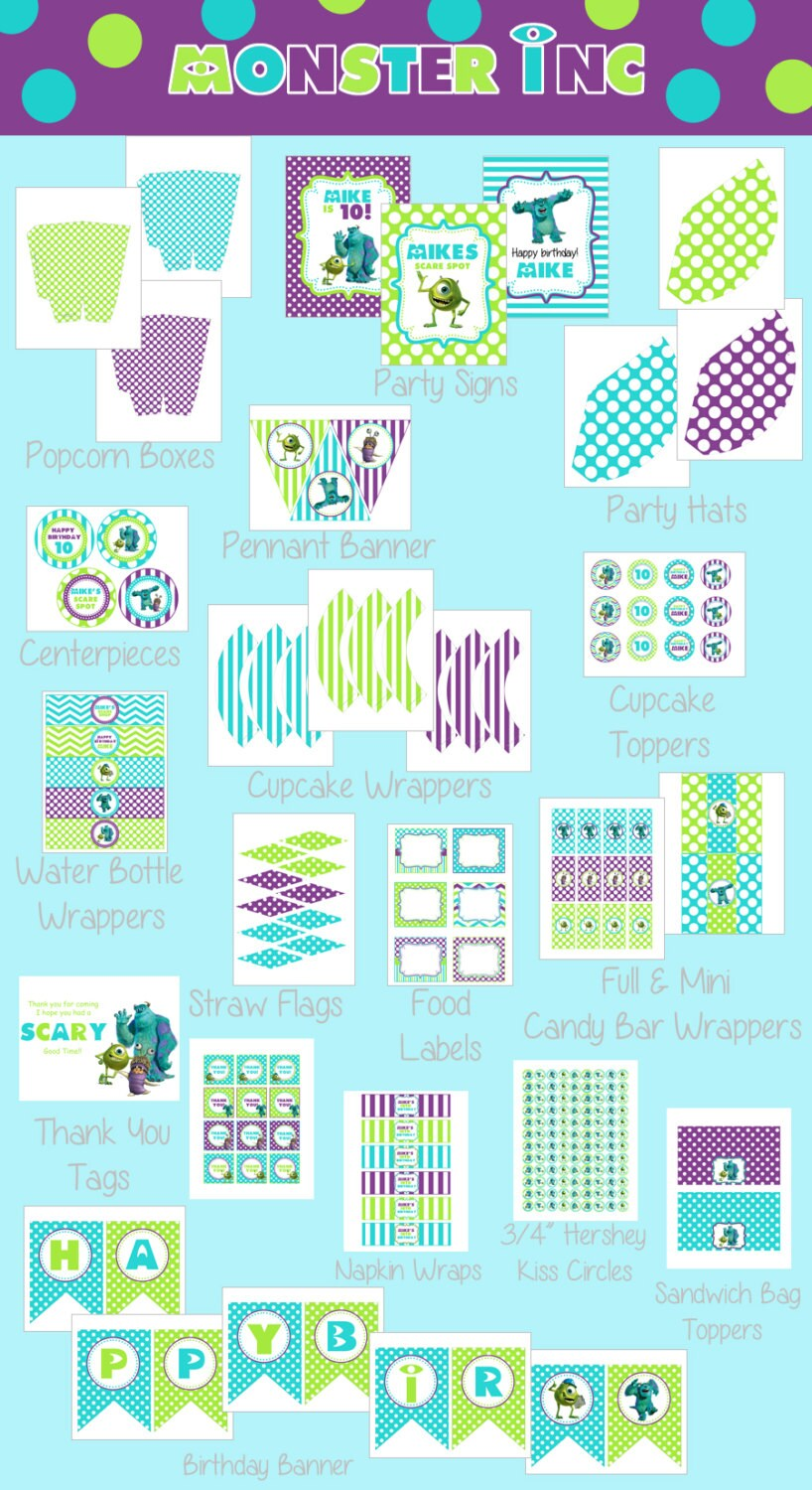 ... Inc Inspired Kids Birthday Party Digtial PRINTABLE Party Package