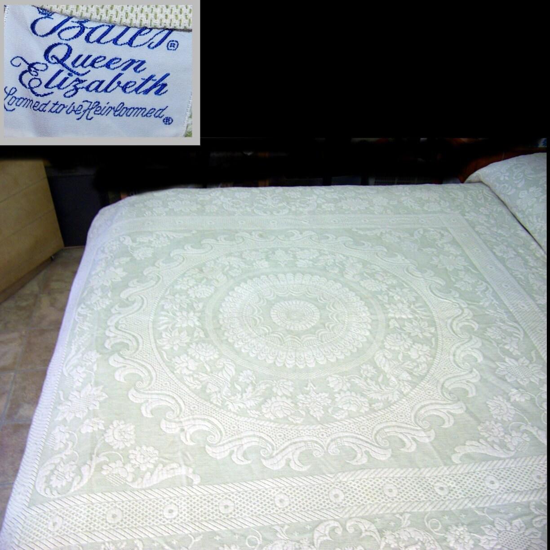 Bates Queen Elizabeth Heirloom Jacquard Bedspread By