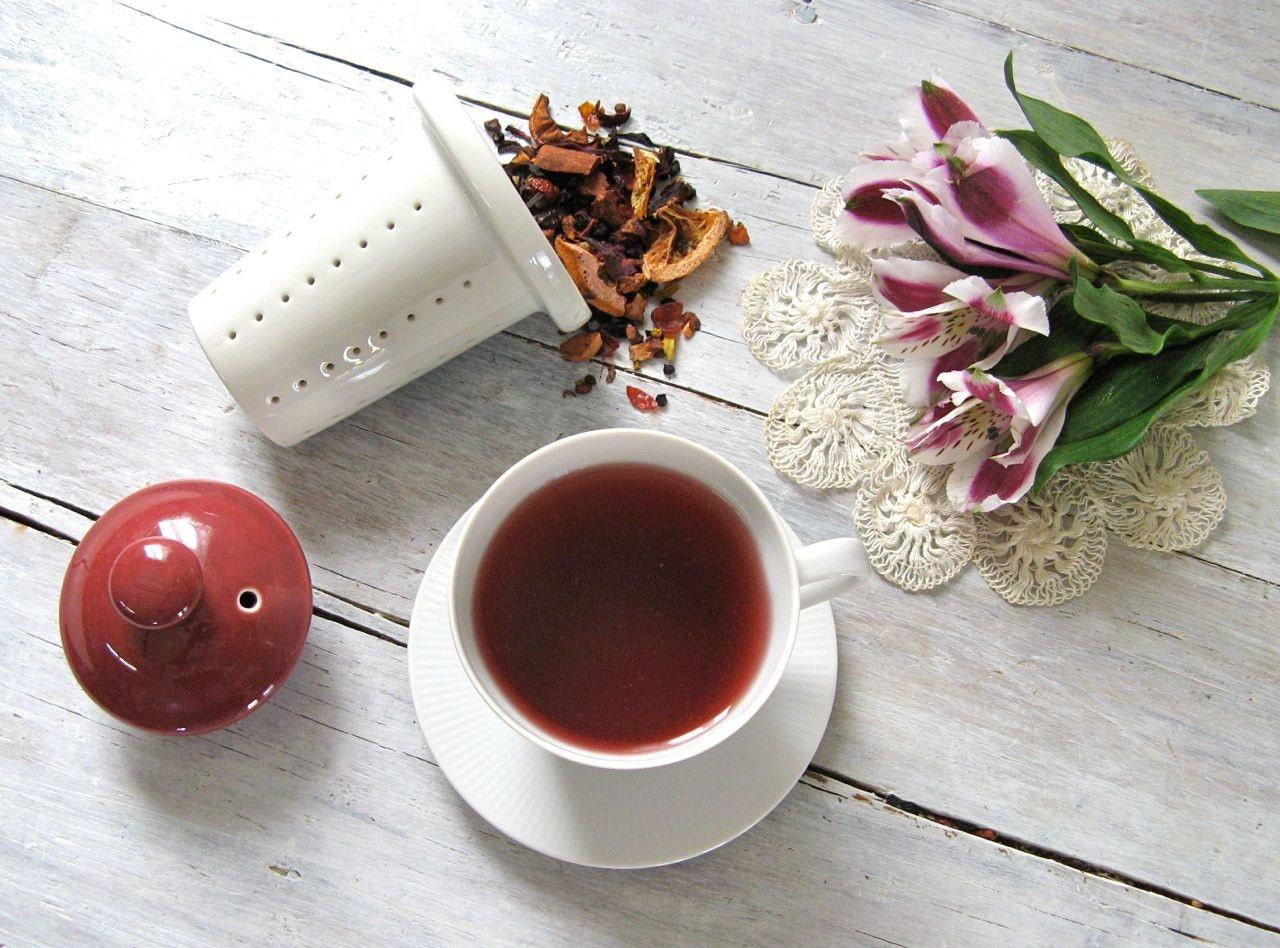 Mulled Wine Fruit Blend Herbal Tea - ArtfulTea Loose Leaf Tea Blend, Iced Tea, Summer Picnic Drink, No Caffeine, 4 oz. Tin - ArtfulTea