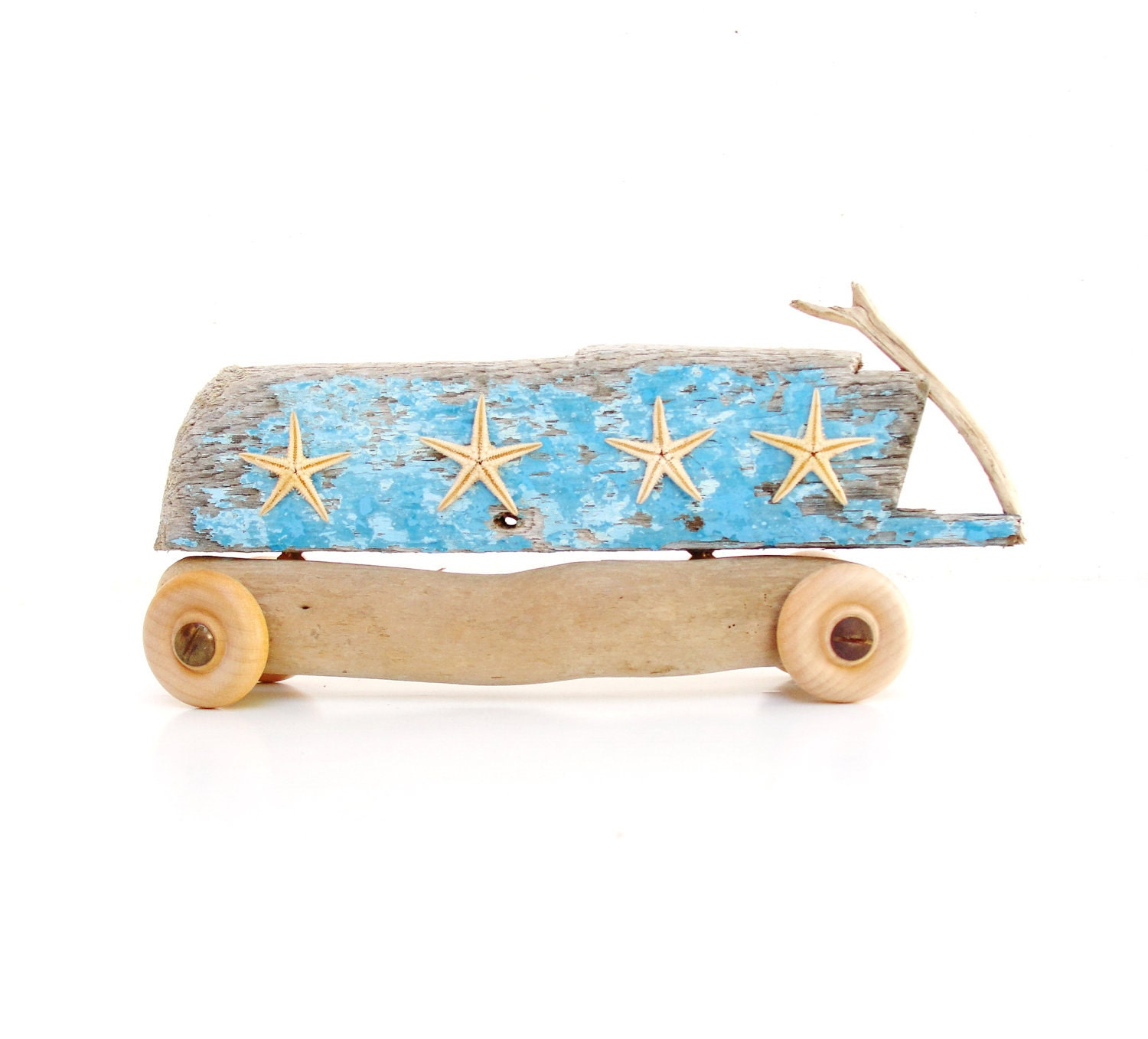 The Beach Bus - Driftwood and StarFish - GiftsandStars