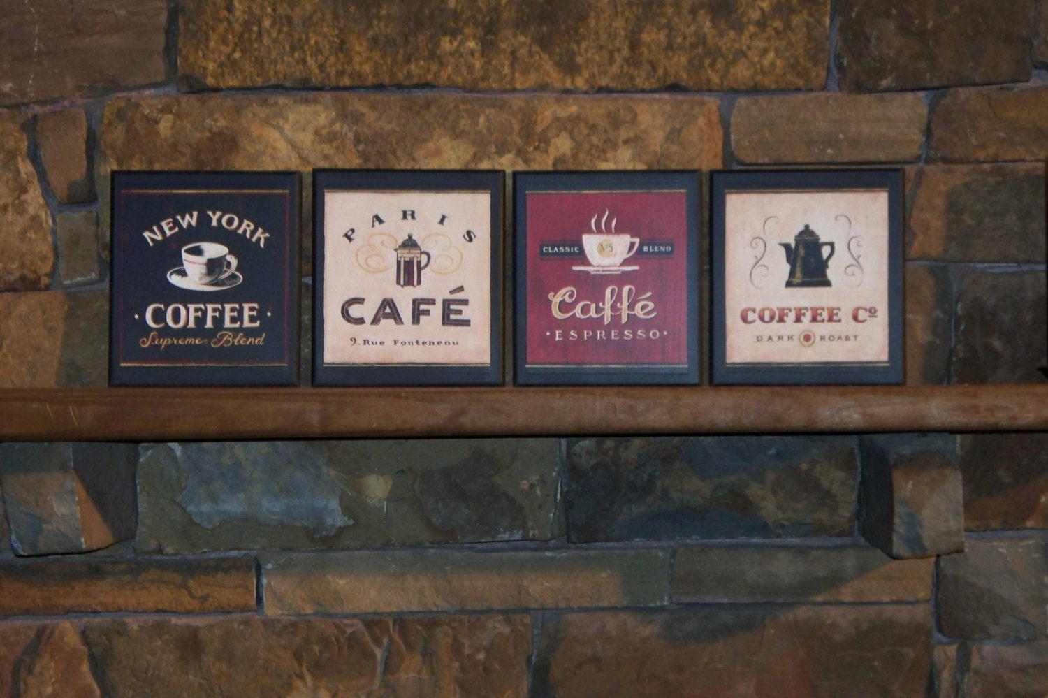 Red Country Wall Decor : Pc coffee plaques country red black by ozarkmtnhomestead