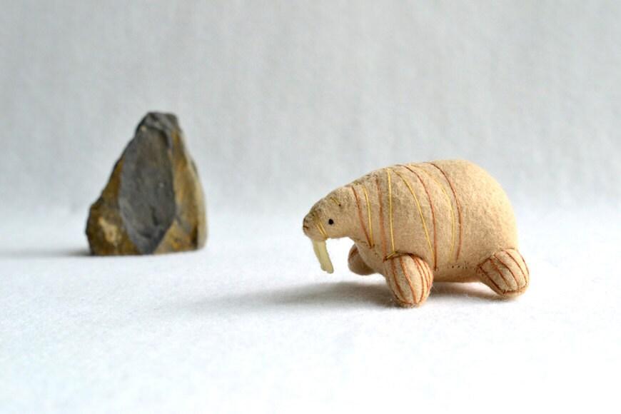 walrus - soft sculpture animal