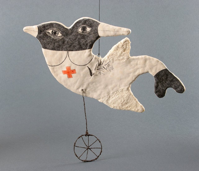 Bird Nurse - OOAK Art Object