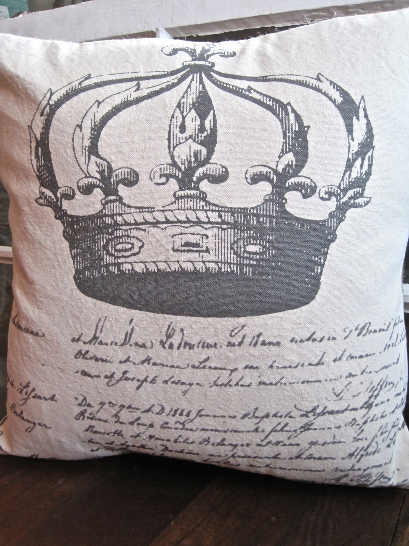 Ручной рукопечатных Чехол - 16x16-французской короны - Le Couronne