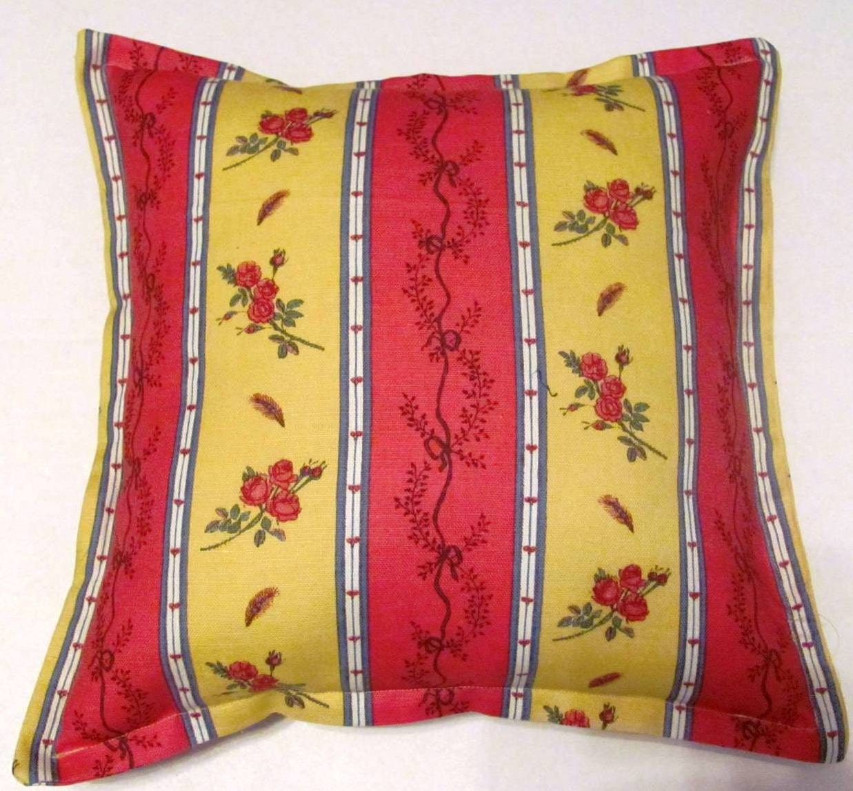 French Country Cottage Pillow Red Blue By Tseclectictreasures