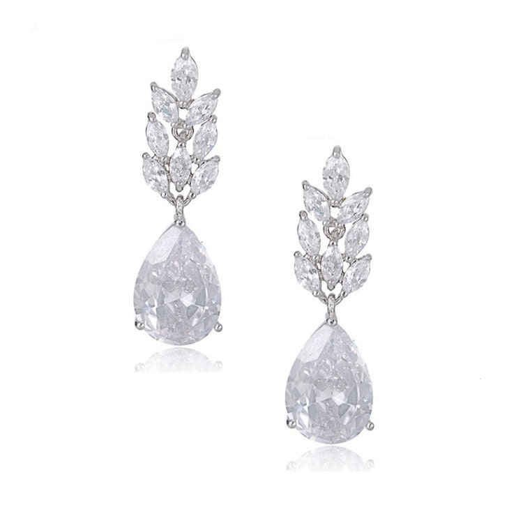 Hollywood crystal cluster droplet Earrings bridal ear rings prom earrings bridal accessories bridal jewellery